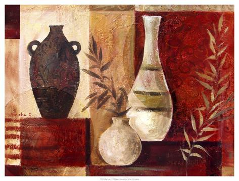 Spice Vases I Art Print