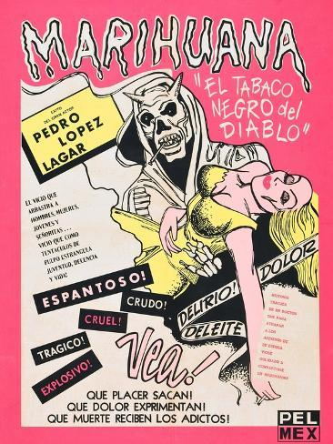 Marihuana, (aka Marihuana Story), Mexican poster art, 1950 Art Print