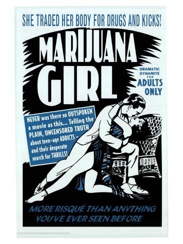 Marijuana Girl, 1969 Art Print