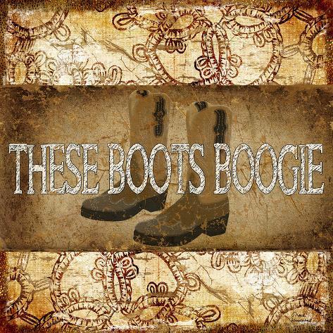 Boogie Boots Stampa artistica