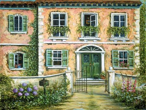 My Pink Italian Villa Impressão artística