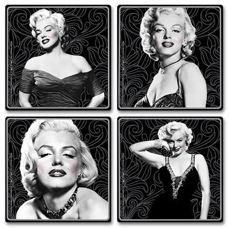 Marilyn Monroe 4pc Wood Coaster Set Coaster