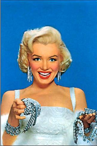 Marilyn Monroe Diamonds POSTCARD SEXY Poster Card