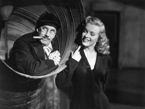 Marilyn Monroe, Groucho Marx, Love Happy, 1949 Photographic Print
