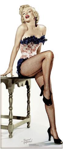 Marilyn Monroe 'Net Stockings' Figura de cartón