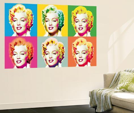 Marilyn Monroe Pop by Wyndham Boulter Mural Movie Wallpaper Mural