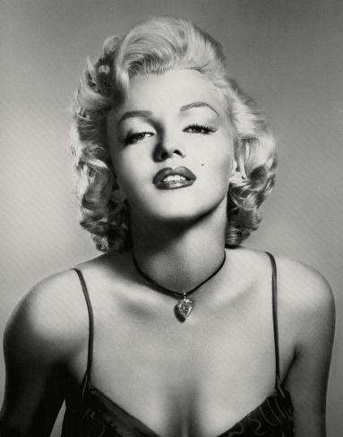 Marilyn Monroe (Portrait, B&W) Glossy Movie Photo Photograph Print Photo