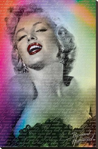 Marilyn Monroe Words Impressão em tela esticada