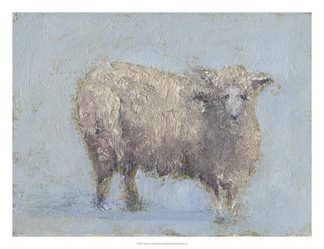 Sheep Strut I Art Print