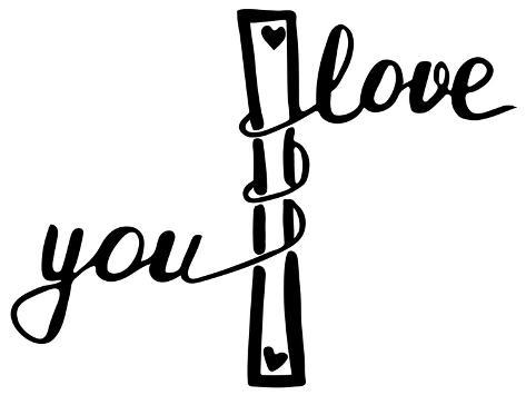I love you . Inspirational and motivational quote. Modern brush calligraphy. Art Print