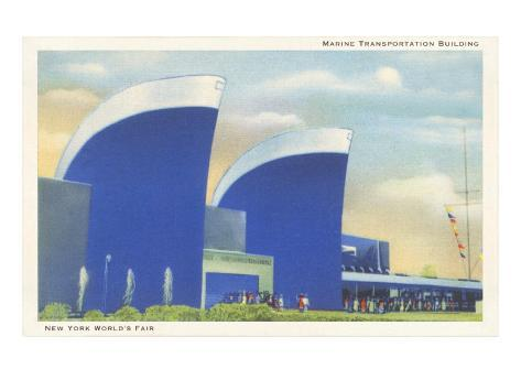 Marine Transportation Building, New York World's Fair, 1939 Art Print