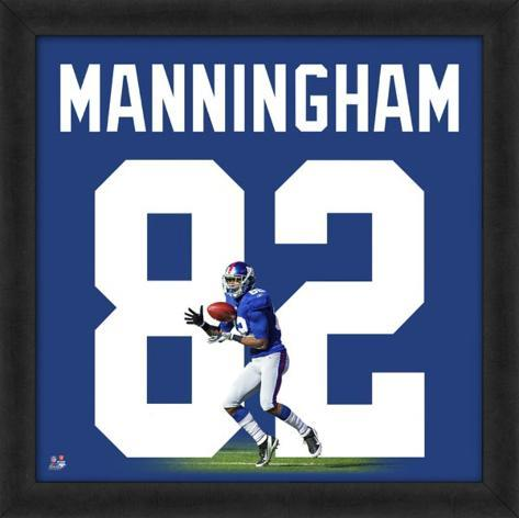 Mario Manningham, Giants representation of the player's jersey Framed Memorabilia