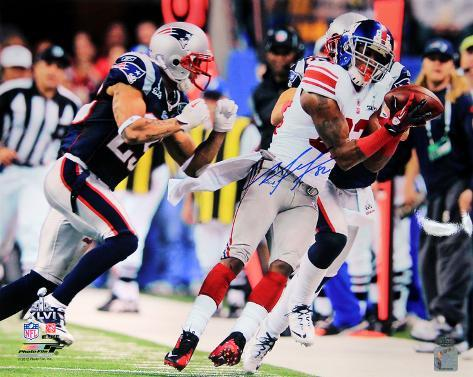 Mario Manningham Signed Super Bowl XLVI Catch Autographed Photo (Hand Signed Collectable) Photo