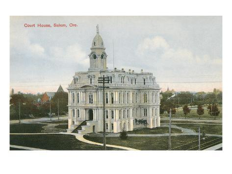 Marion County Courthouse, Salem, Oregon Art Print