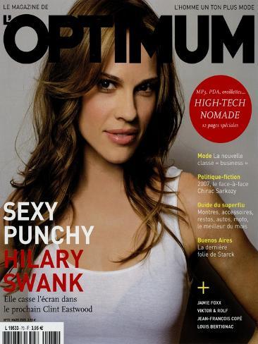 L'Optimum, March 2005 - Hilary Swank Art Print