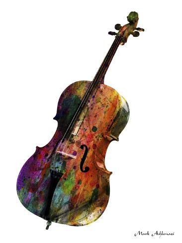 Cello Giclee Print