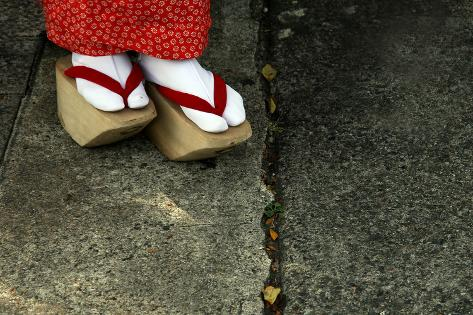 Wooden Shoes of Japanese Geisha Photographic Print