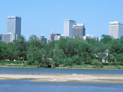 Arkansas River, Tulsa, Oklahoma Photographic Print