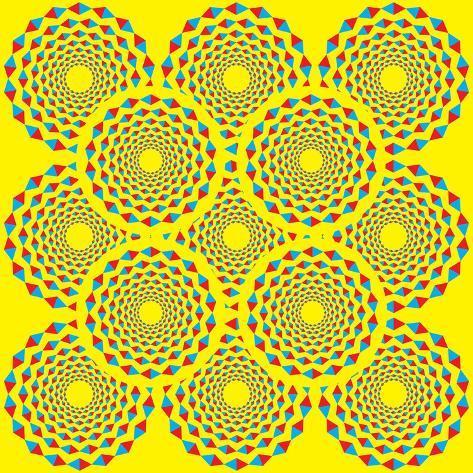 Spin Diamonds Art Print