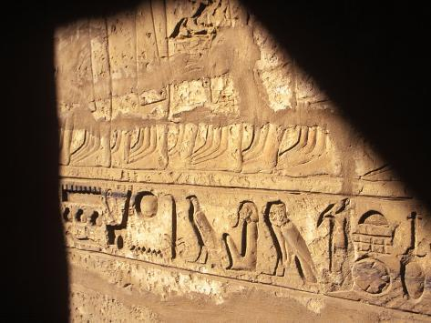 Hieroglyphics on Entrance to the Temple of Karnak Photographic Print
