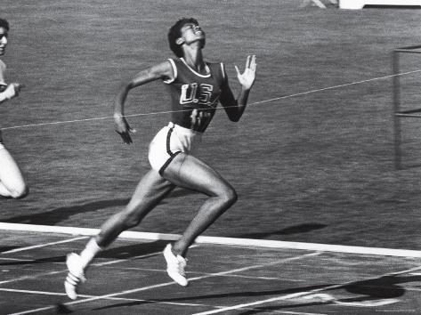 Us Runner Wilma Rudolph At Olympics Premium Photographic