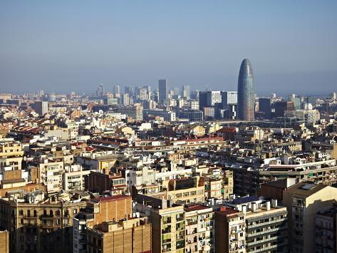 View From the Top of the Sagrada Familia, Barcelona, Catalonia, Spain, Europe Photographic Print