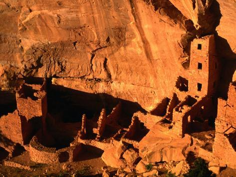 Apartment Style Architecture of Mesa Verde National Park, Mesa Verde National Park, USA Photographic Print