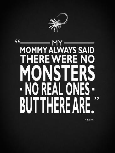 Aliens - No Monsters Kunst op gespannen canvas