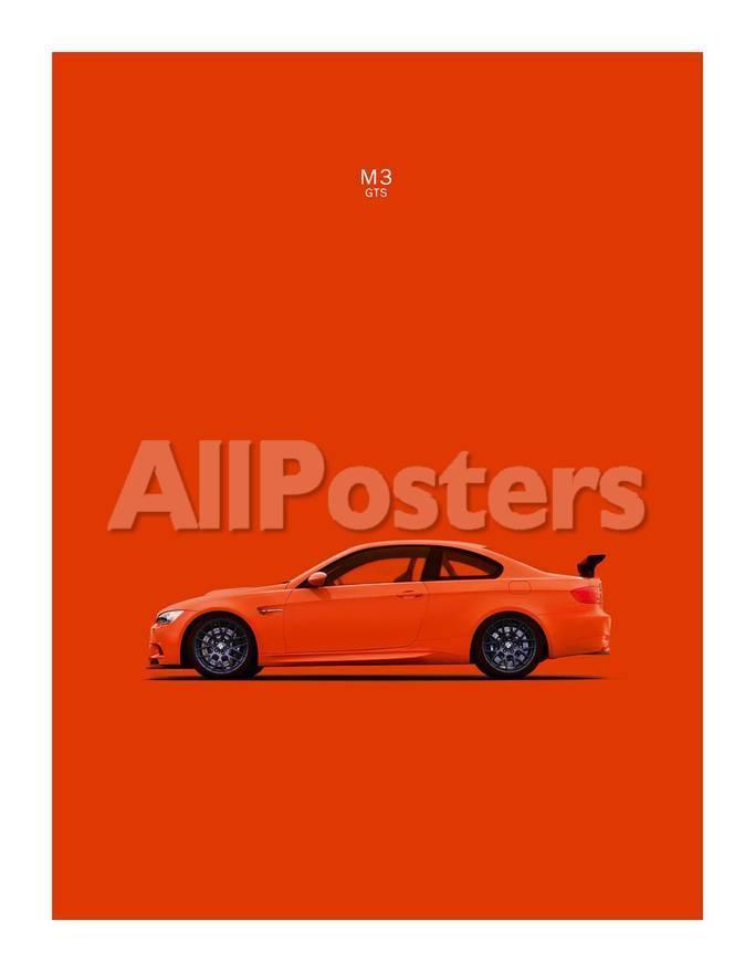 Bmw M3 Gts Orange Giclee Print By Mark Rogan At Allposters Com
