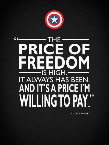 Captain America - Freedom Reproducción de lámina sobre lienzo