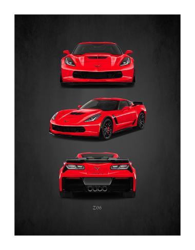 Chevrolet-Corvette-Z06 Stampa giclée
