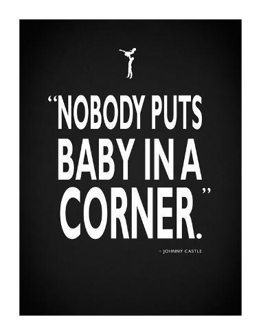 Dirty Dancing Baby InA Corner Lámina giclée