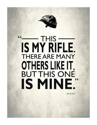 Full Metal Jacket My Rifle Giclee Print