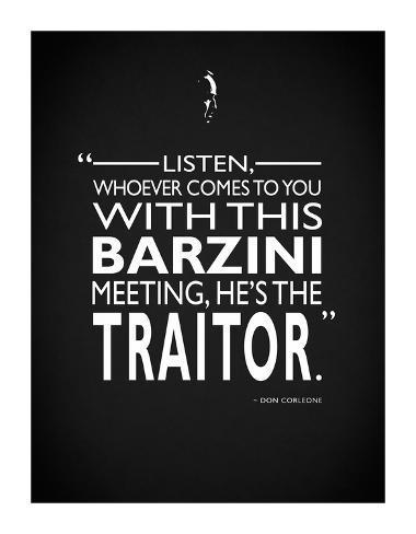 Godfather Barzini Traitor Stampa giclée