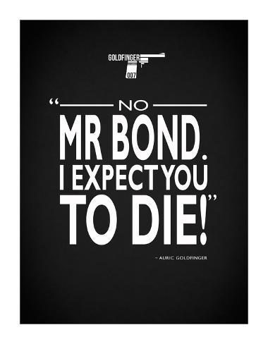 James Bond - Expect You To Die Giclee Print