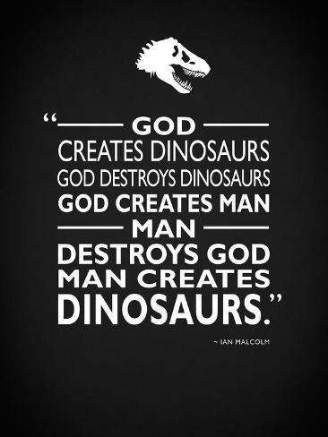 Jurassic Park - Creates Stretched Canvas Print