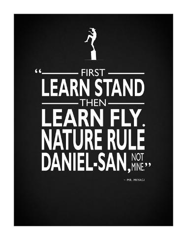 Karate Kid Nature Rule Stampa giclée