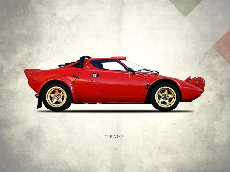 Lancia Stratos 1974 Stretched Canvas Print