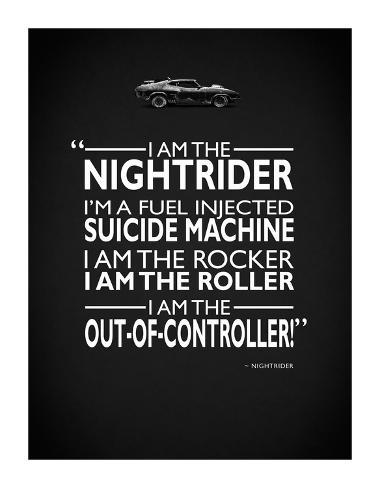 Mad Max I Am The Nightrider Giclee Print