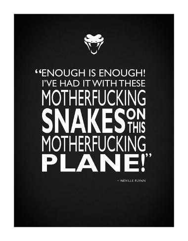 Snakes On A Plane Giclee Print