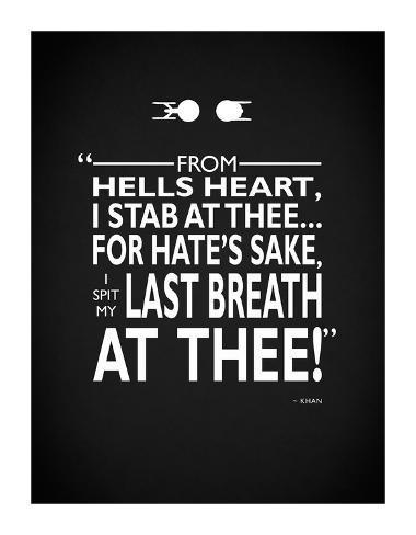 Star Trek- Spit Last Breath Giclee Print
