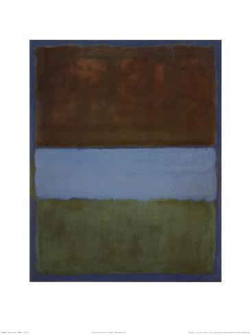 No. 61 (Brown, Blue, Brown on Blue), c.1953 Lámina