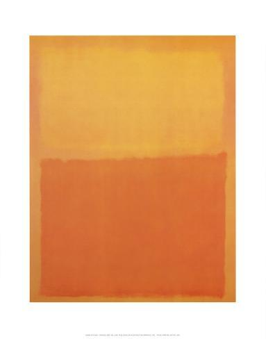 Orange and Yellow Impressão artística