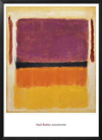 Untitled (Violet, Black, Orange, Yellow on White and Red), 1949 Framed Art Print