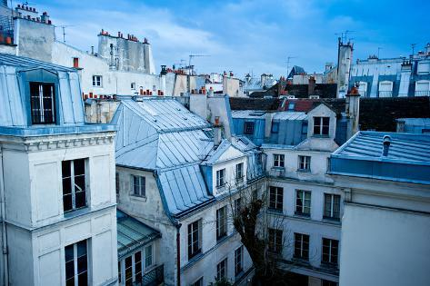 Paris Neighborhood Skyline Photographic Print