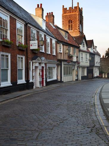 St. Georges Tombland and Princes Street at Dusk, Norwich, Norfolk, England, United Kingdom, Europe Photographic Print
