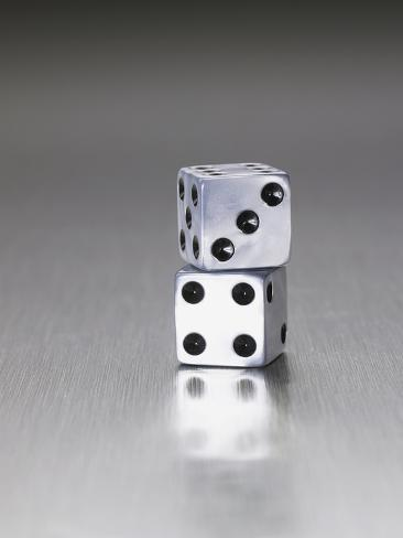 Pair of dice Photographic Print