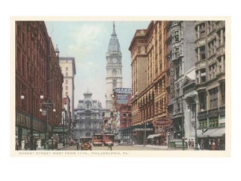 Market Street, Philadelphia, Pennsylvania Art Print