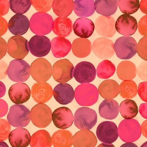 Abstract Watercolored Geometric Circles Seamless Background Art Print