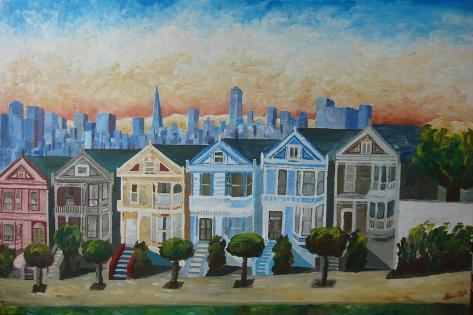 Victorian Houses - Seven Sisters San Francisco Art Print